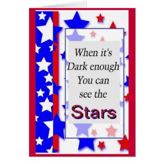 Patriotic sentiment card
