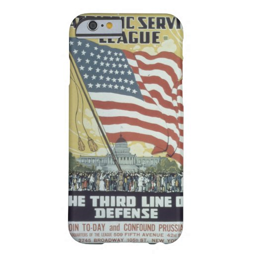 Patriotic_Service_League._Propaganda Poster Barely There iPhone 6 Case