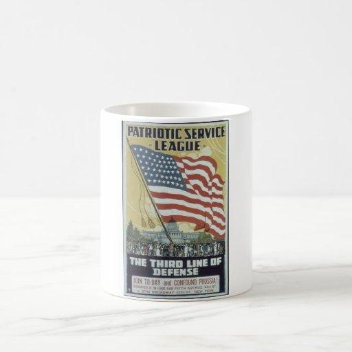 Patriotic_Service_League._Propaganda Poster Coffee Mug