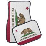 Patriotic set of car mats with Flag of California Car Mat