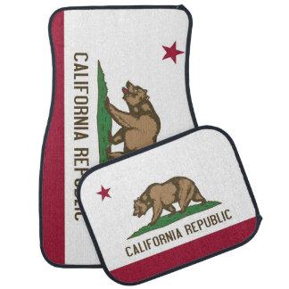 Patriotic set of car mats with Flag of California Floor Mat
