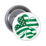 Patriotic Shamrock II Button