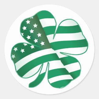 Patriotic Shamrock II Sticker
