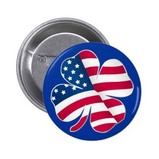 Patriotic Shamrock III Button