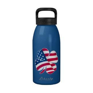 Patriotic Shamrock III Water Bottle