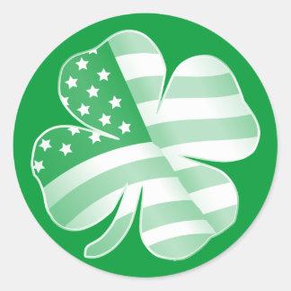 Patriotic Shamrock Sticker