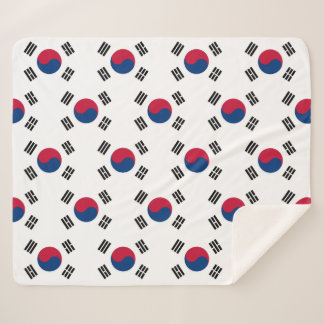 Patriotic Sherpa Blanket with South Korea flag