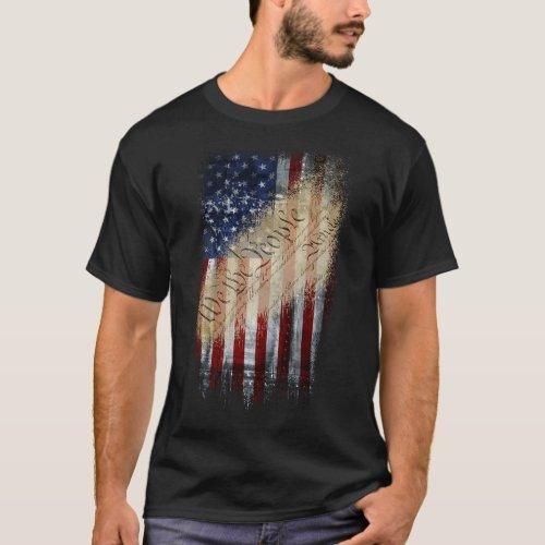 Patriotic Shirt WE THE PEOPLE American Flag
