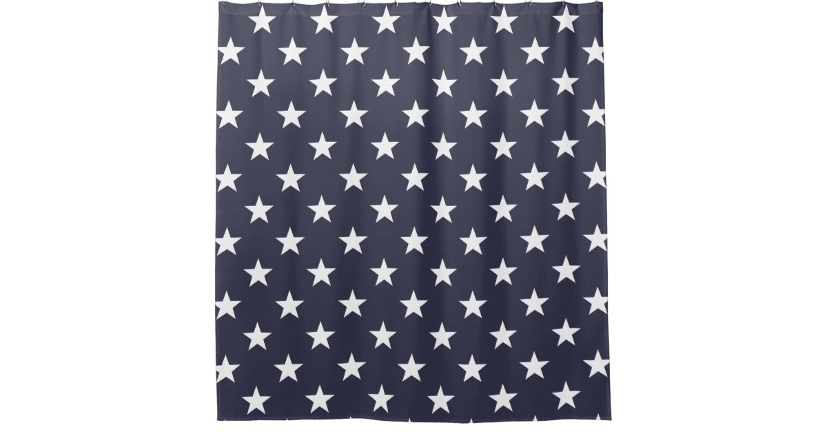 Patriotic shower curtain with american flag stars | Zazzle.com