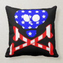Patriotic Skeleton Pillow