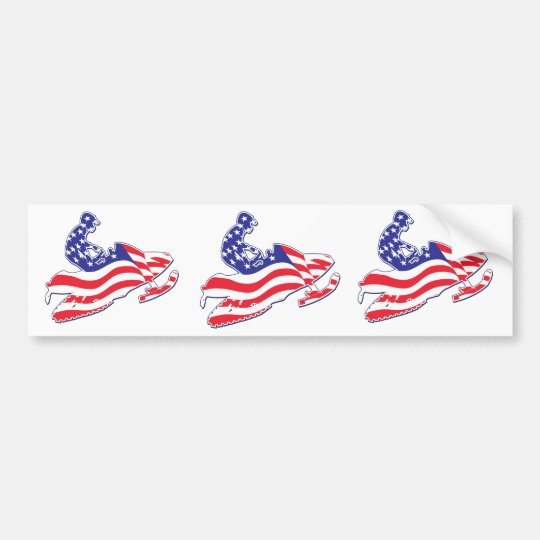 Patriotic-Sledder Bumper Sticker