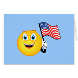 Patriotic Smiley Greeting Card