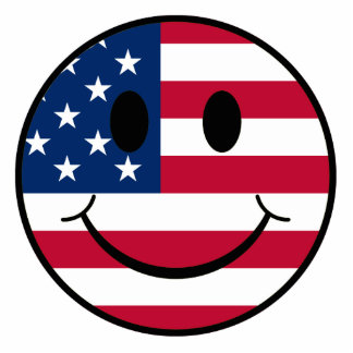 Patriotic Smiley Cutout