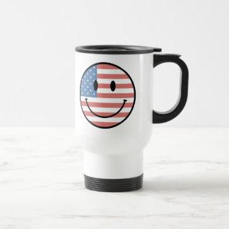 Patriotic Smiley mug