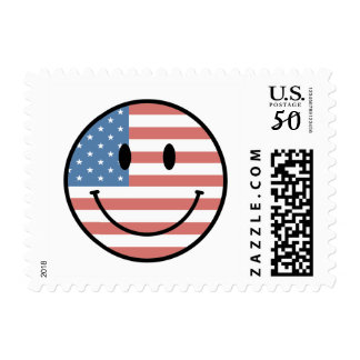 Patriotic Smiley postage