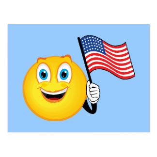 Patriotic Smiley Postcard