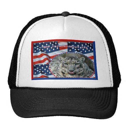 patriotic-snow-leopard-039 gorras de camionero
