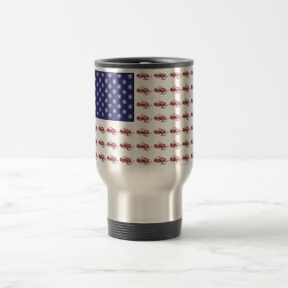 Patriotic Snowmobiling Travel Mug