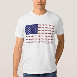 Patriotic Snowmobiling Tshirts