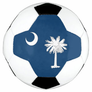 Patriotic Soccer Ball with Flag of South Carolina