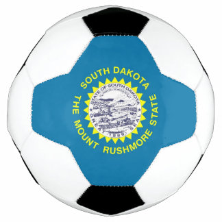 Patriotic Soccer Ball with Flag of South Dakota