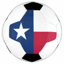 Patriotic Soccer Ball with Flag of Texas