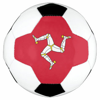 Patriotic Soccer Ball with Isle of Man Flag