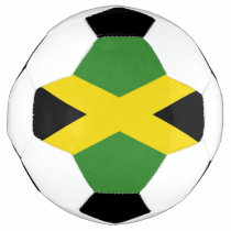 Patriotic Soccer Ball with Jamaica Flag