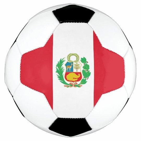 b0399966bf6 Patriotic Soccer Ball with Peru Flag
