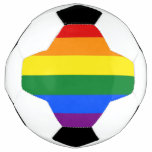 Patriotic Soccer Ball with Pride LGBT Flag