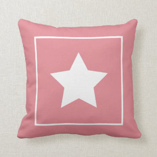Patriotic Soft Pink & White Star Pillow