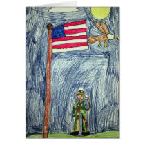 Patriotic Soldier Card - Art by Ayla