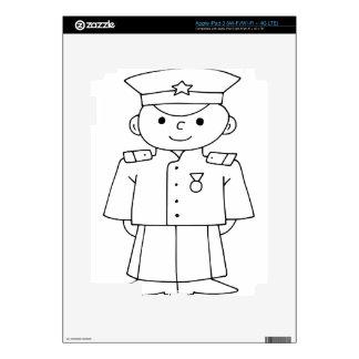 Patriotic Soldier Decals For iPad 3
