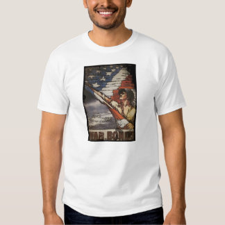 Patriotic Soldier Holding Flag T-Shirt