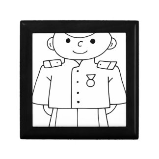 Patriotic Soldier Keepsake Box