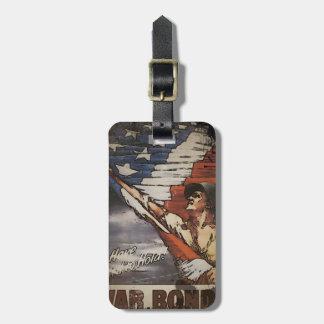 Patriotic Soldier Unfurling Flag Luggage Tag