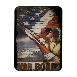 Patriotic Soldier Unfurling Flag Magnet