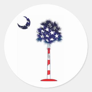 Patriotic South Carolina Palmetto Stickers