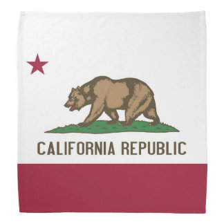 Patriotic, special bandana with Flag of California
