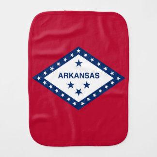 Patriotic, special burp cloth with Arkansas Flag