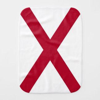Patriotic, special burp cloth with Flag of Alabama