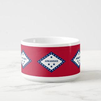 Patriotic, special chili bowl with Arkansas flag