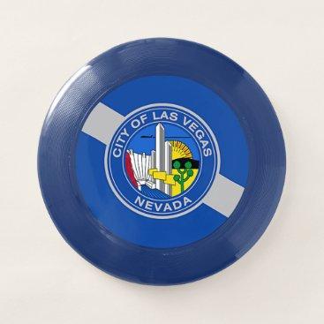 Patriotic, special Frisbee with Flag of Las Vegas