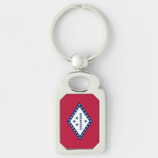 Patriotic, special keychain with Flag of Arkansas