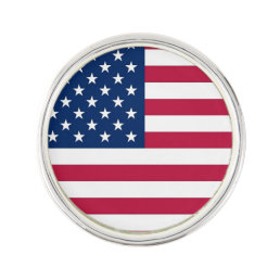 Patriotic, special lapel pin with Flag of USA