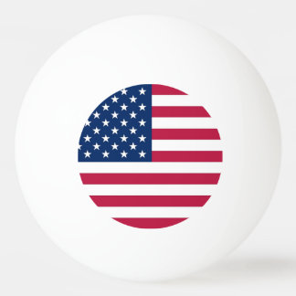 Patriotic, special ping pong ball with Flag of USA