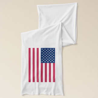 Patriotic, special Scarf with Flag of USA