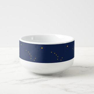 Patriotic, special soup mug with Flag of Alaska