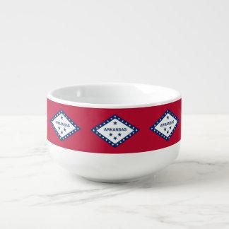 Patriotic, special soup mug with Flag of Arkansas
