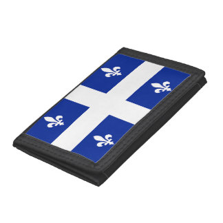 Patriotic, special wallet with Flag of Quebec